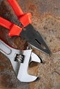 Spanner And Pliers Stock Photo - 23566430