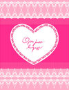 Beautiful Pink Background With Heart Stock Images - 23570334