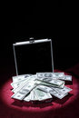 Aluminum Case With Money Stock Photo - 23575700
