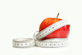 Red Apple With Tape Measure Stock Images - 23580784