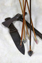 Arrows Knife And Tomahawk Royalty Free Stock Photo - 23583905