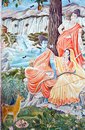 In Nepal, The Temple Wall Murals Stock Photo - 23591900