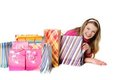 Young Smiling Woman Shopping Stock Images - 23593054