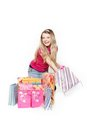 Young Smiling Woman Shopping Royalty Free Stock Photos - 23593078