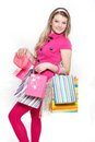 Young Smiling Woman Shopping Royalty Free Stock Photos - 23593158