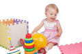 Baby Girl Playing Toys Royalty Free Stock Photography - 23593367