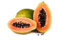 Papaya Fruit On White Stock Photos - 23594533