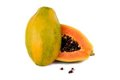 Papaya Fruit On White Stock Photos - 23594553