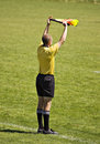 Soccer Official With Flag Stock Photo - 2364550