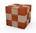 Wooden Cube Puzzle Royalty Free Stock Photos - 23606028