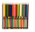 Multicolored Crayons And Pencils Stock Photos - 23607683