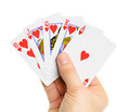 Playing Cards In Hand Royalty Free Stock Photos - 23608168
