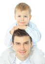 Portrait Of Happy Father And Son Stock Photos - 23608863