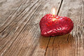 Red Heart Shaped Candle Royalty Free Stock Images - 23613209