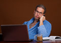 Stuck On A Call Royalty Free Stock Photos - 23615188