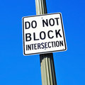 Do Not Block Intersection Sign Royalty Free Stock Photo - 23616485