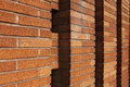 Brick Will With Columns Royalty Free Stock Image - 23618196