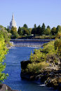 Idaho Falls Church And River Royalty Free Stock Photos - 23649808