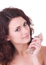 Woman With Perfume Bottle Stock Photo - 23668990