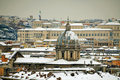 Rome View Under The Snow In January 2012 Royalty Free Stock Photography - 23677077