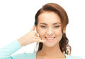 Woman Making A Call Me Gesture Stock Images - 23684544
