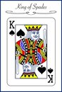 King Of Spades, Illustration Of A Playing Card Royalty Free Stock Photos - 23685328