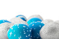 Blue And Silver Easter Eggs Royalty Free Stock Photos - 23691138