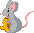 Mouse With Cheese Stock Photos - 23691863