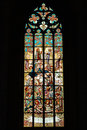 Stained Glass Window In Church Royalty Free Stock Images - 23695009