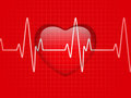Glossy Cardiogram Glass Red Heart Stock Image - 23695321