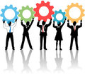 People Team Up Technology Solution Gears Stock Photography - 23697842