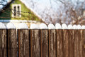 Fence With Snow Stock Photography - 23702402