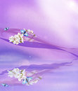 Violet Background And Flowers Royalty Free Stock Photo - 23705895