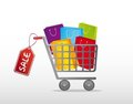 Shopping Cart Royalty Free Stock Images - 23706849