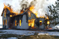 House On Fire Royalty Free Stock Image - 23708006