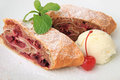 Cherry Strudel Stock Image - 23711551