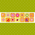 Abstract Springtime Flower Greeting Card Royalty Free Stock Image - 23717996