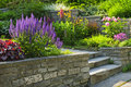 Garden With Stone Landscaping Stock Images - 23718724