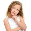 Portrait Of Young Girl Wondering. Royalty Free Stock Images - 23721989