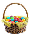 Easter Eggs In Basket Stock Photos - 23725573