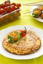 Omelette With Grilled Vegetable Skewer Royalty Free Stock Image - 23726906