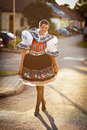 Woman In A Richly Decorated Ceremonial Folk Dress Royalty Free Stock Photos - 23729708