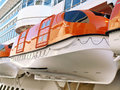 Lifeboats On A Cruise Ship Royalty Free Stock Photos - 23732898