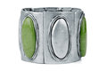 Silver Bracelet With Green Stock Photo - 23737570