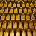 Stacked Gold Bars Royalty Free Stock Photography - 23750617