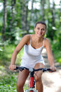 Woman On Bicycle Royalty Free Stock Photo - 23752825