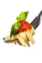 Fork With Spaghetti And Tomato Sauce Stock Image - 23755071