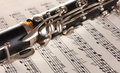 Close Up Detail Of Clarinet And Notebook Stock Photography - 23761362