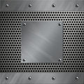 Aluminum Frame And Perforated Metal Royalty Free Stock Photos - 23764608