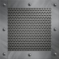 Aluminum Frame And Perforated Metal Stock Photography - 23764642